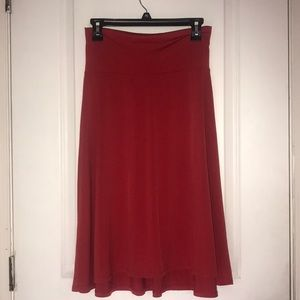 Red Lularoe Azure skirt